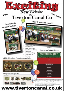 News: Exciting New Website for Tiverton Canal Co
